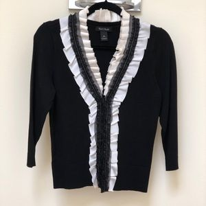 VTG WHBM B&W lacy sweater/cardigan classic